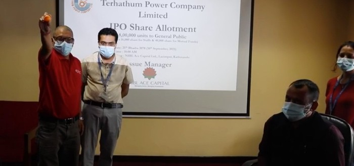 IPO Allotment of Terhathum Power Company, Only 74,400 applicants get 10 units share